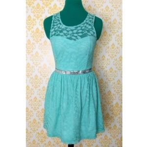 Candie's Lace Mint Green Sleeveless Dress size 3